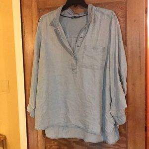 Tops - Chambray top plus size